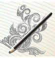 Pencil sketch vector image vector image