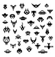 pixel alien spaceships a set of retro icons vector image