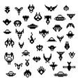 pixel alien spaceships a set retro icons vector image