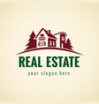 real estate logo forest vector image vector image