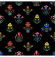 seamless pattern with little flowers for fabric or vector image vector image