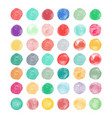 set of watercolor shapes vector image vector image