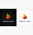 simple fire logo vector image