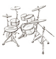 Sketch of a Drum Kit vector image vector image