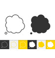 speech bubble simple badge black line icon vector image