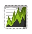 statistics graph isolated icon vector image vector image