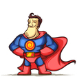 Superhero with hands on waist vector image vector image