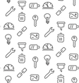 Technical tools seamless pattern vector image vector image