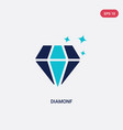 two color diamonf icon from gaming concept vector image vector image