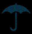 umbrella composition icon of halftone bubbles vector image