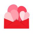 valentine day message vector image