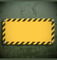 yellow metal sign vector image vector image