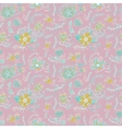 Elegance Seamless pattern with flowers and leaves vector image