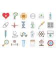 Hospital colorful icons set vector image