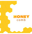 abstract honeycomb logo white background im vector image