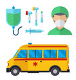 ambulance medicine health emergency car vector image vector image