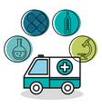 ambulance vehicle medical emergency design vector image