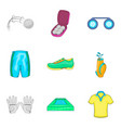 athlete icons set cartoon style vector image vector image