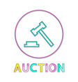 auction hummer minimalistic icon in linear style vector image