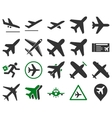 Aviation Icon Set vector image vector image