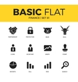 Basic set of Finance icons vector image