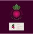 beetroot logo garden goods organic market vector image