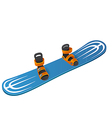 Blue snowboard on white background vector image vector image