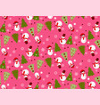 bright seamless winter pink pattern vector image vector image