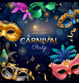 carnival party poster vector image vector image