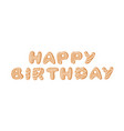 cartoon ginger bread cookies word happy birthday vector image vector image