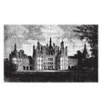 chateau of chambord the commune of chambord vector image vector image