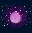 christmas ball with snowflakes and stars purple vector image vector image