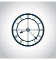 Clock simple icon vector image vector image