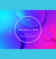 colorful minimal future geometric background vector image