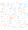 Colorful Seashells vector image vector image
