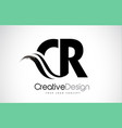 cr c r creative brush black letters design with vector image vector image