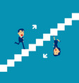 cute person running up and down stairs vector image