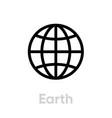 earth globe planet icon editable line vector image vector image