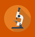 Education Flat Icon Microscope vector image vector image