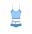 elegant blue lingerie icon in flat style vector image vector image