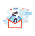 email marketing advertising campaign contern vector image vector image