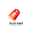 Flash sale logo icon design template flash shop