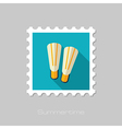 Flippers flat stamp Summer Vacation vector image