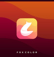 fox colorful design template vector image vector image