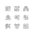 genetics linear icons set vector image vector image