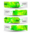 Geometrical Origami Banner Set vector image vector image