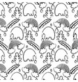 grunge elephant with leaves and rainbow cloud vector image vector image