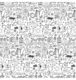Hand drawn Home seamless pattern vector image vector image