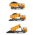 heavy tipper delivered coal vector image vector image