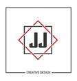 initial jj letter logo template design vector image vector image